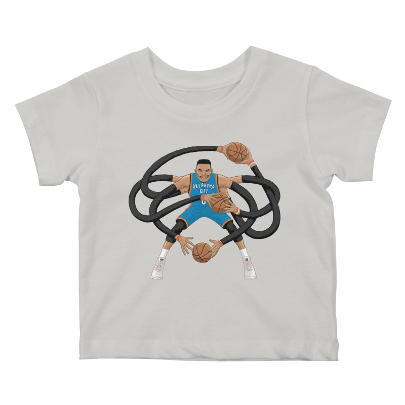 "Russell ""Mr. Triple Double"" Westbrook - road kit Kids Baby T-Shirt by dukenny's Artist Shop"