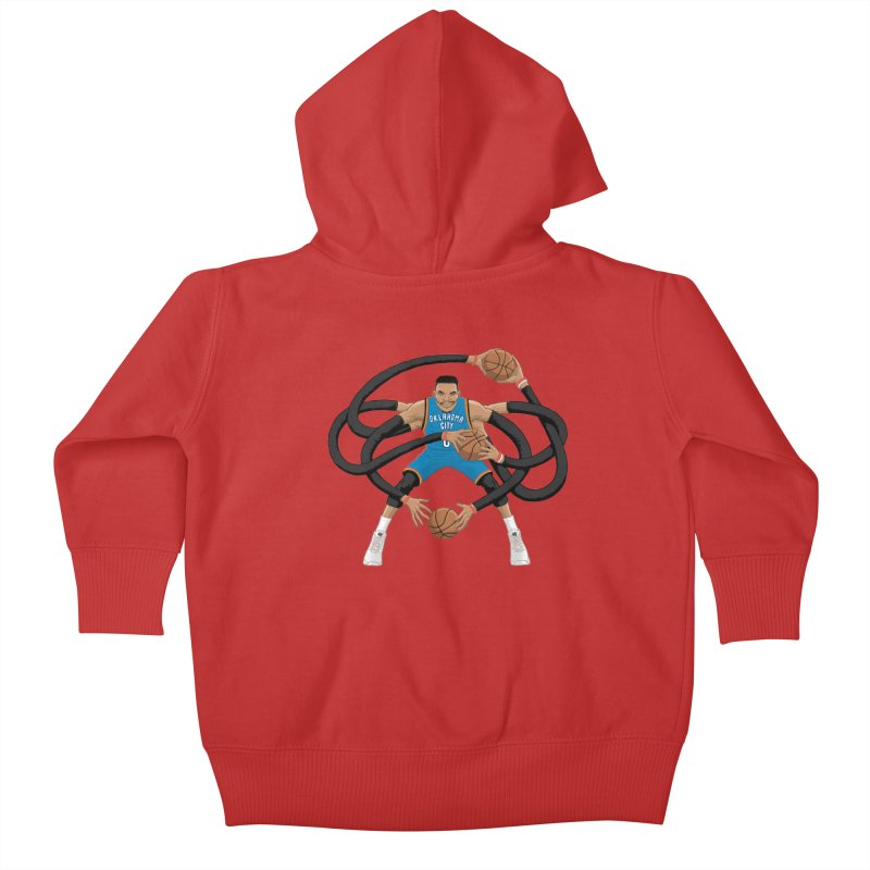"Russell ""Mr. Triple Double"" Westbrook - road kit Kids Baby Zip-Up Hoody by dukenny's Artist Shop"