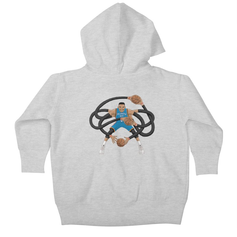 "Russell ""Mr. Triple Double"" Westbrook - road kit Kids Baby Zip-Up Hoody by dukenny's Artist Shop"