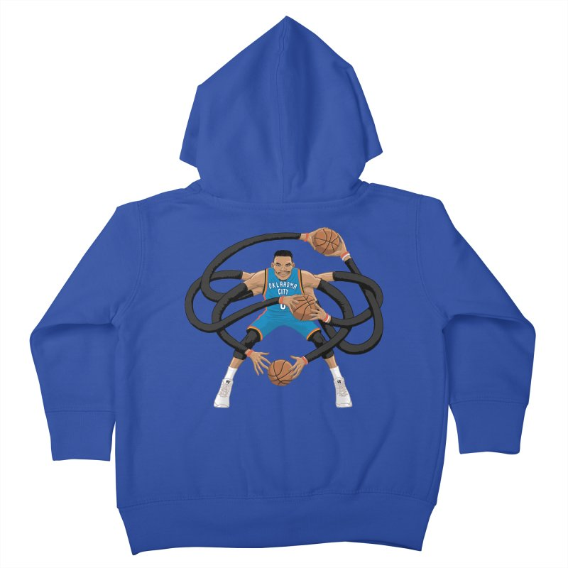 "Russell ""Mr. Triple Double"" Westbrook - road kit Kids Toddler Zip-Up Hoody by dukenny's Artist Shop"