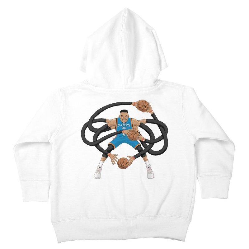 "Russell ""Mr. Triple Double"" Westbrook - road kit Kids Toddler Zip-Up Hoody by dukenny's Artist Shop"