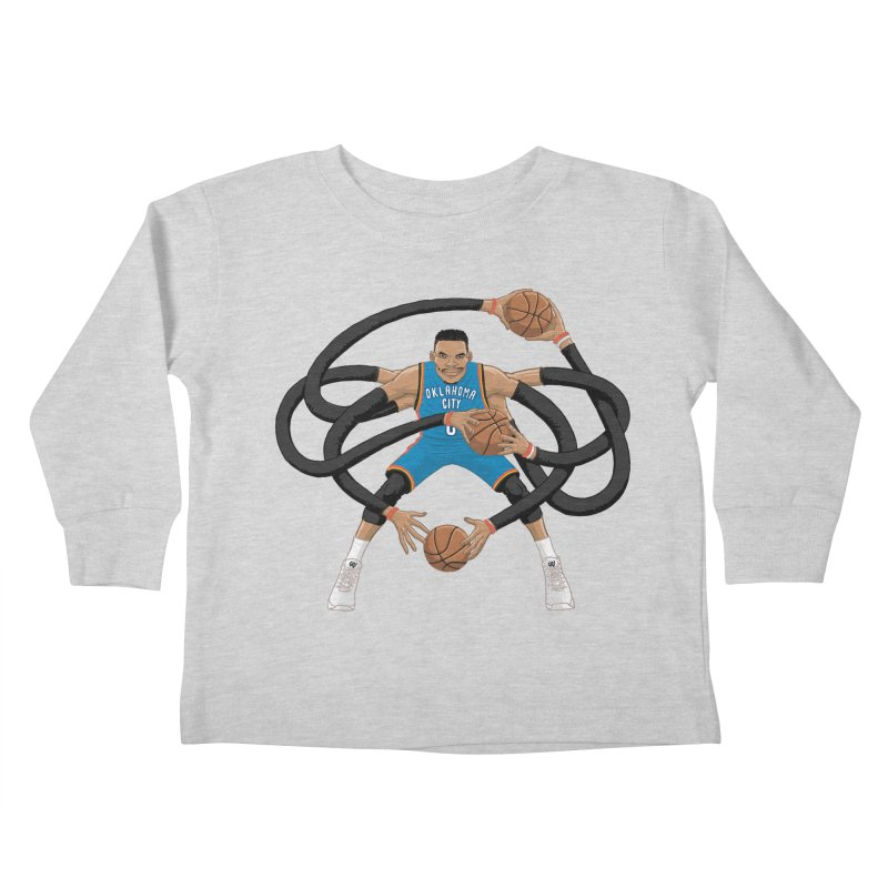 "Russell ""Mr. Triple Double"" Westbrook - road kit Kids Toddler Longsleeve T-Shirt by dukenny's Artist Shop"