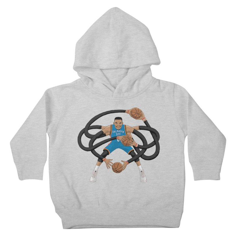 "Russell ""Mr. Triple Double"" Westbrook - road kit Kids Toddler Pullover Hoody by dukenny's Artist Shop"