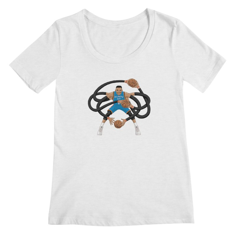 "Russell ""Mr. Triple Double"" Westbrook - road kit Women's Scoop Neck by dukenny's Artist Shop"