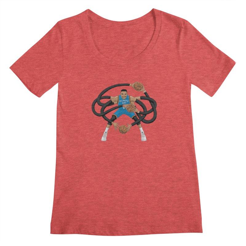 """Russell """"Mr. Triple Double"""" Westbrook - road kit Women's Scoopneck by dukenny's Artist Shop"""