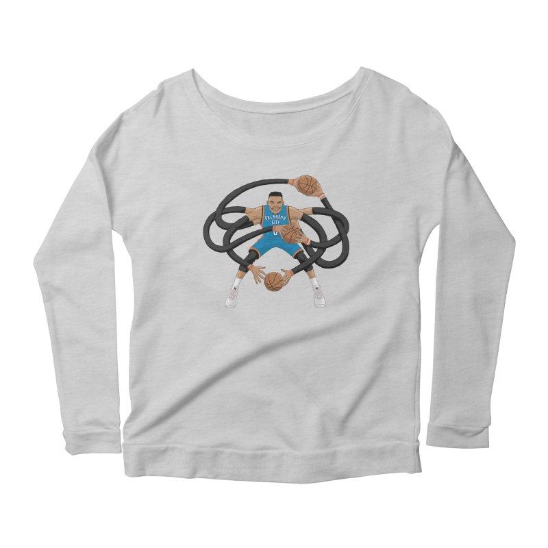 """Russell """"Mr. Triple Double"""" Westbrook - road kit Women's Scoop Neck Longsleeve T-Shirt by dukenny's Artist Shop"""