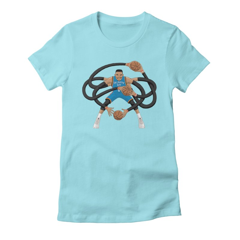 "Russell ""Mr. Triple Double"" Westbrook - road kit Women's Fitted T-Shirt by dukenny's Artist Shop"