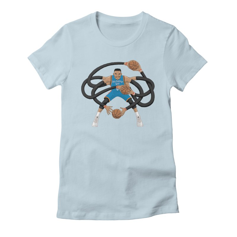 """Russell """"Mr. Triple Double"""" Westbrook - road kit Women's Fitted T-Shirt by dukenny's Artist Shop"""