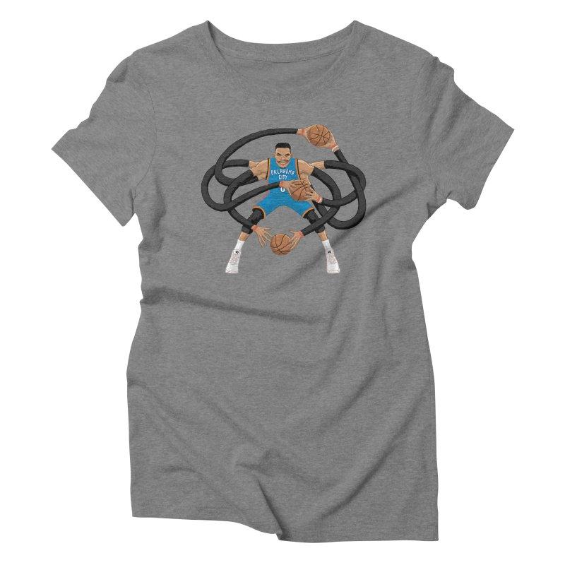 "Russell ""Mr. Triple Double"" Westbrook - road kit Women's Triblend T-Shirt by dukenny's Artist Shop"
