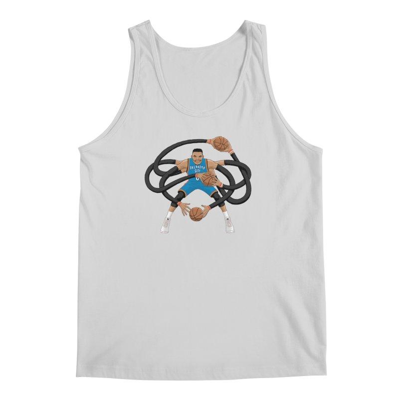"""Russell """"Mr. Triple Double"""" Westbrook - road kit Men's Regular Tank by dukenny's Artist Shop"""
