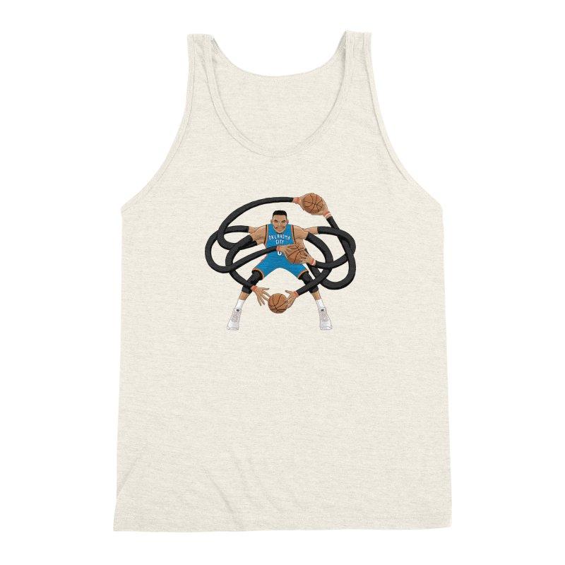 """Russell """"Mr. Triple Double"""" Westbrook - road kit Men's Triblend Tank by dukenny's Artist Shop"""