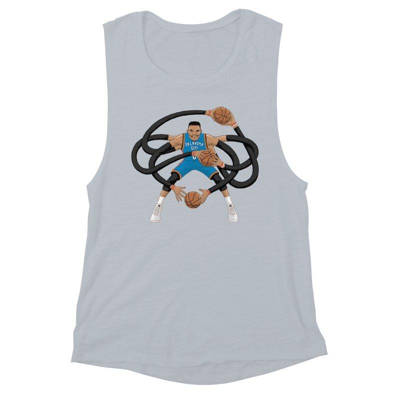 """Russell """"Mr. Triple Double"""" Westbrook - road kit Women's Muscle Tank by dukenny's Artist Shop"""