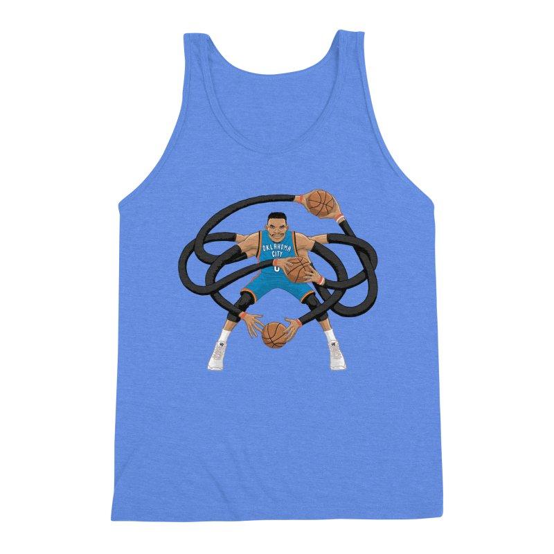 """Russell """"Mr. Triple Double"""" Westbrook - road kit Men's Tank by dukenny's Artist Shop"""