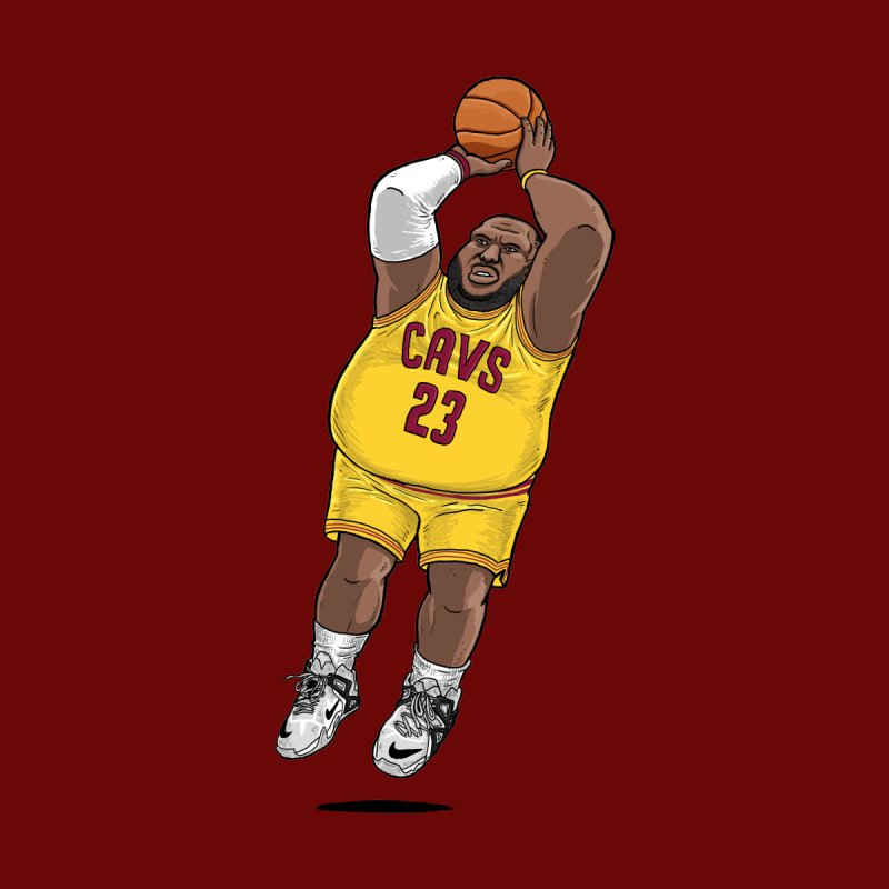 Fat LeBron - a.k.a. LeBrownie Men's Longsleeve T-Shirt by dukenny's Artist Shop