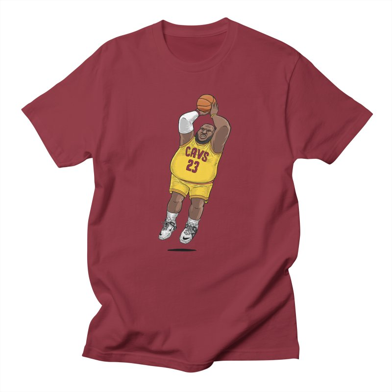 Fat LeBron - a.k.a. LeBrownie in Men's Regular T-Shirt Scarlet Red by dukenny's Artist Shop