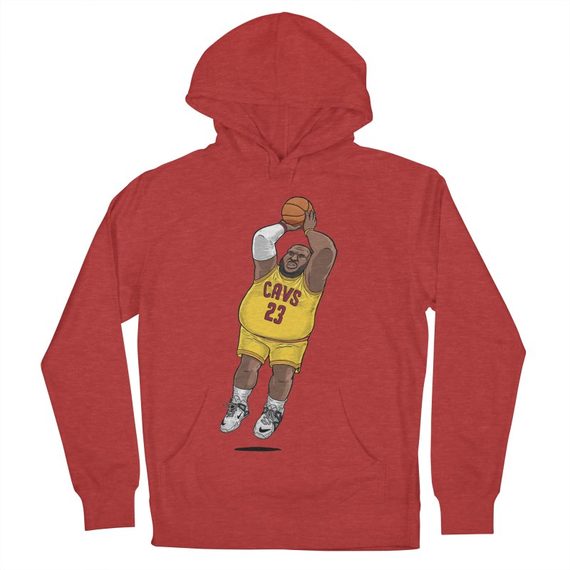 Fat LeBron - a.k.a. LeBrownie Men's French Terry Pullover Hoody by dukenny's Artist Shop