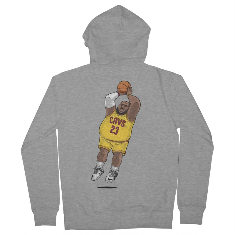 Fat LeBron - a.k.a. LeBrownie Women's French Terry Zip-Up Hoody by dukenny's Artist Shop