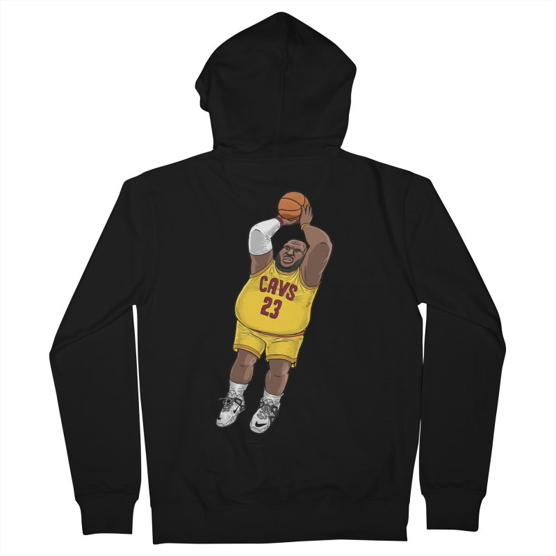 Fat LeBron - a.k.a. LeBrownie Women's Zip-Up Hoody by dukenny's Artist Shop