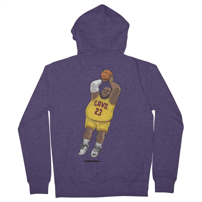 Fat LeBron - a.k.a. LeBrownie Men's Zip-Up Hoody by dukenny's Artist Shop