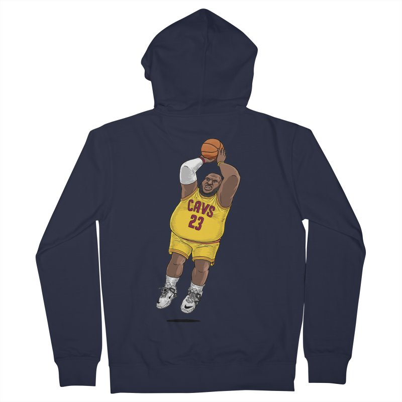Fat LeBron - a.k.a. LeBrownie Men's French Terry Zip-Up Hoody by dukenny's Artist Shop