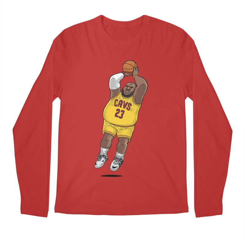 Fat LeBron - a.k.a. LeBrownie Men's Regular Longsleeve T-Shirt by dukenny's Artist Shop
