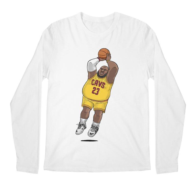Fat LeBron - a.k.a. LeBrownie Men's Regular Longsleeve T-Shirt by dukenny's Artist Shop