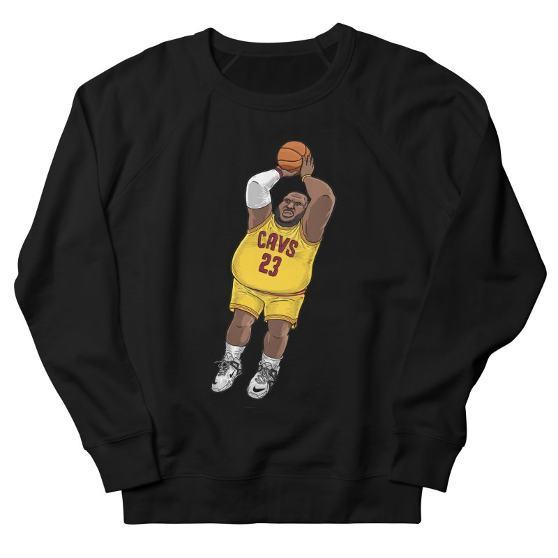 Fat LeBron - a.k.a. LeBrownie Men's French Terry Sweatshirt by dukenny's Artist Shop