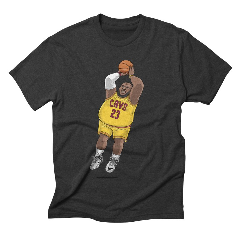 Fat LeBron - a.k.a. LeBrownie Men's  by dukenny's Artist Shop