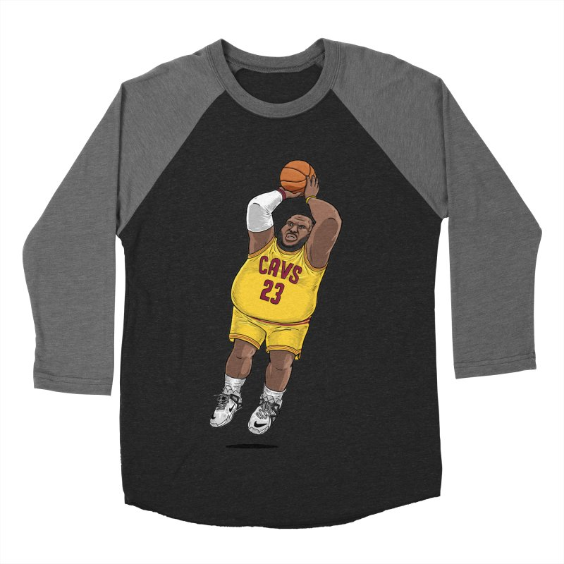 Fat LeBron - a.k.a. LeBrownie Men's Baseball Triblend T-Shirt by dukenny's Artist Shop