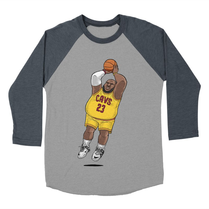 Fat LeBron - a.k.a. LeBrownie Men's Baseball Triblend Longsleeve T-Shirt by dukenny's Artist Shop