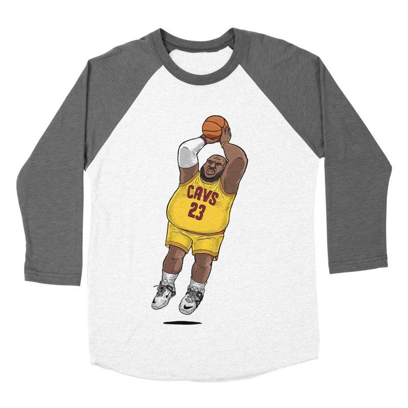Fat LeBron - a.k.a. LeBrownie Men's Baseball Triblend Longsleeve T-Shirt by dukenny's Artist Shop