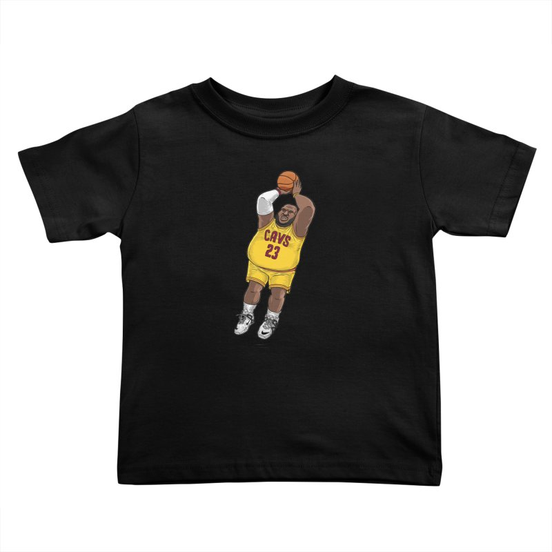 Fat LeBron - a.k.a. LeBrownie Kids Toddler T-Shirt by dukenny's Artist Shop