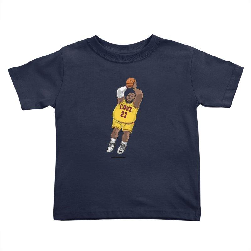 Fat LeBron - a.k.a. LeBrownie Kids Toddler T-Shirt by dukenny's Artist Shop