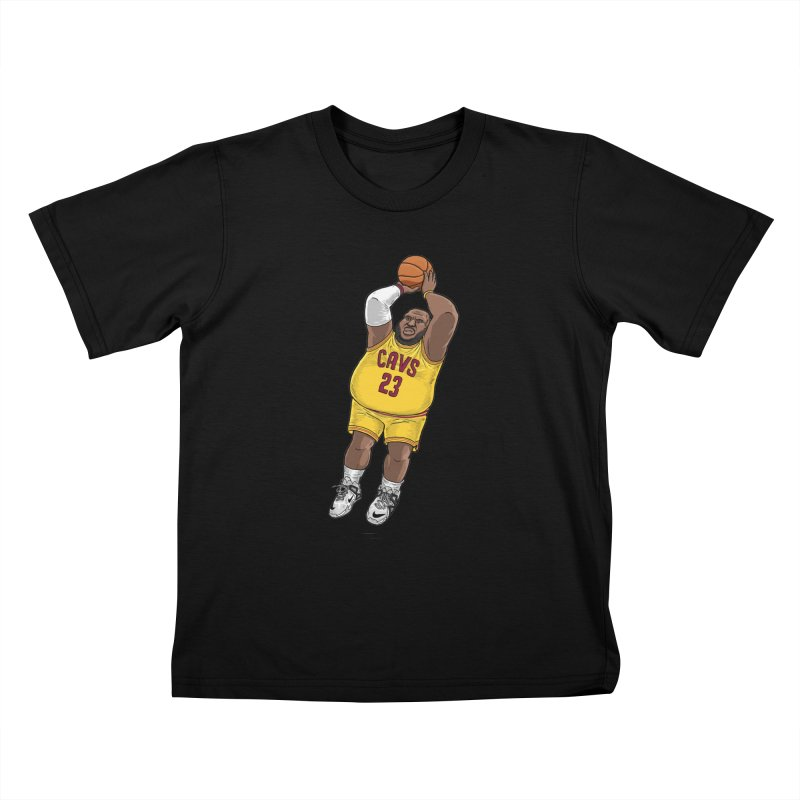 Fat LeBron - a.k.a. LeBrownie Kids T-Shirt by dukenny's Artist Shop