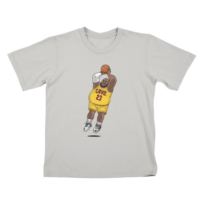 Fat LeBron - a.k.a. LeBrownie Kids T-Shirt by dukenny's Artist Shop