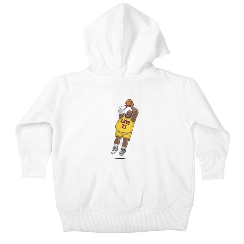 Fat LeBron - a.k.a. LeBrownie Kids Baby Zip-Up Hoody by dukenny's Artist Shop