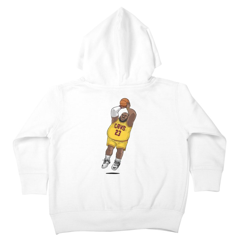 Fat LeBron - a.k.a. LeBrownie Kids Toddler Zip-Up Hoody by dukenny's Artist Shop
