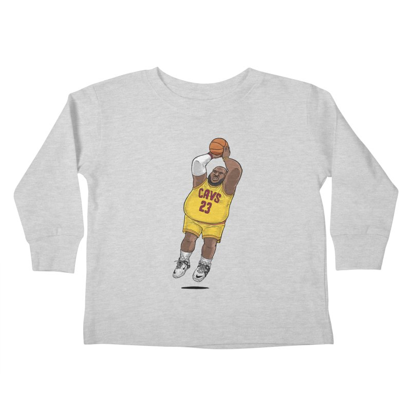 Fat LeBron - a.k.a. LeBrownie Kids Toddler Longsleeve T-Shirt by dukenny's Artist Shop