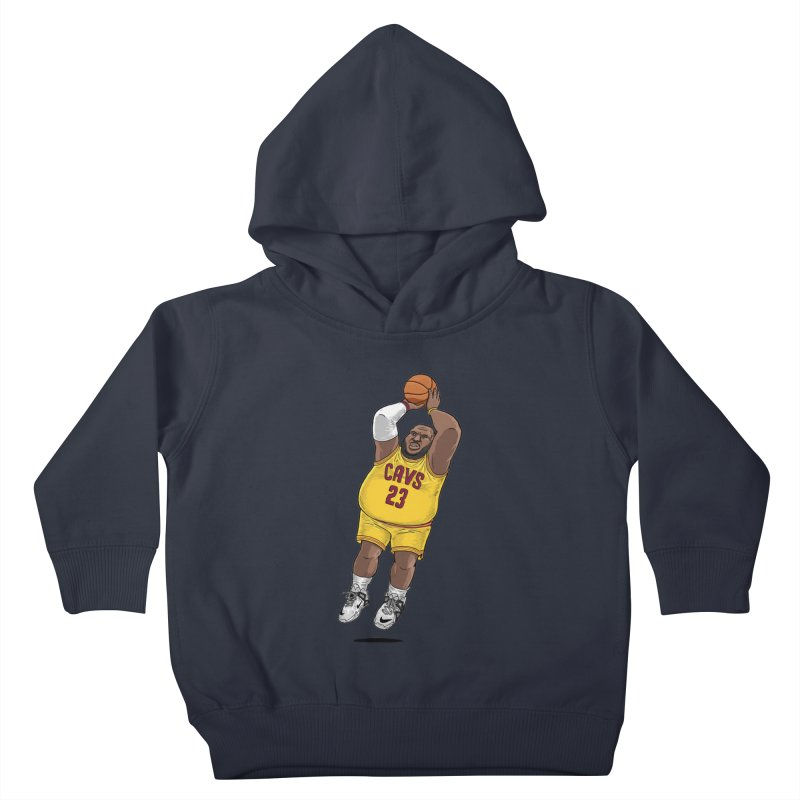 Fat LeBron - a.k.a. LeBrownie Kids Toddler Pullover Hoody by dukenny's Artist Shop