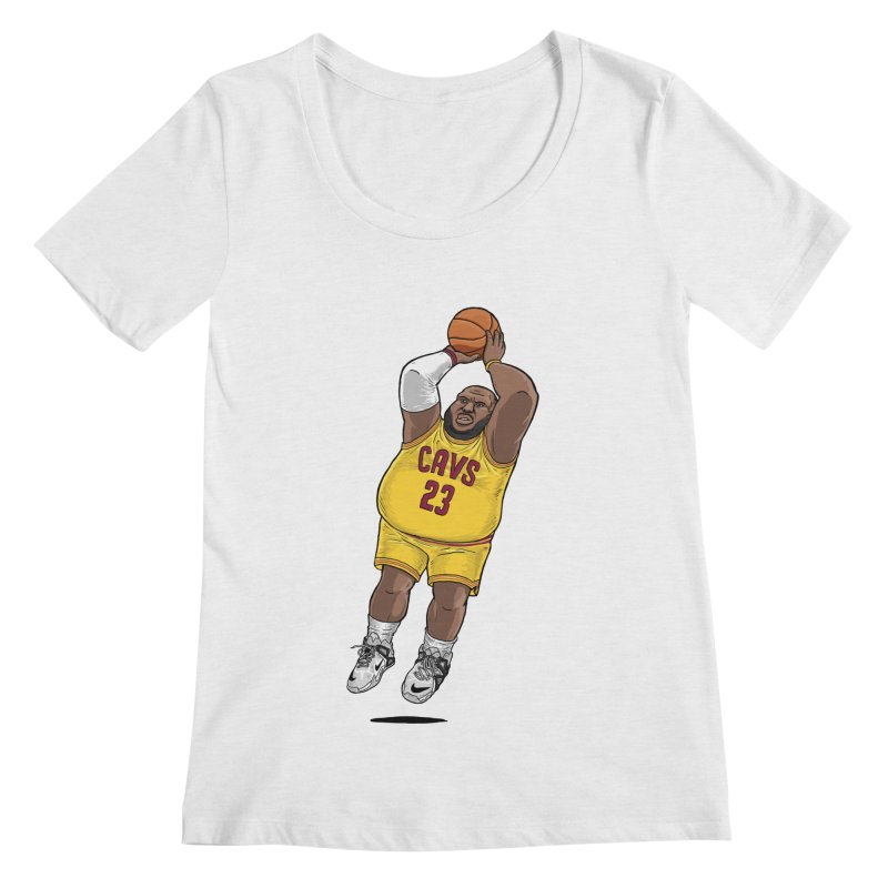 Fat LeBron - a.k.a. LeBrownie Women's Scoop Neck by dukenny's Artist Shop