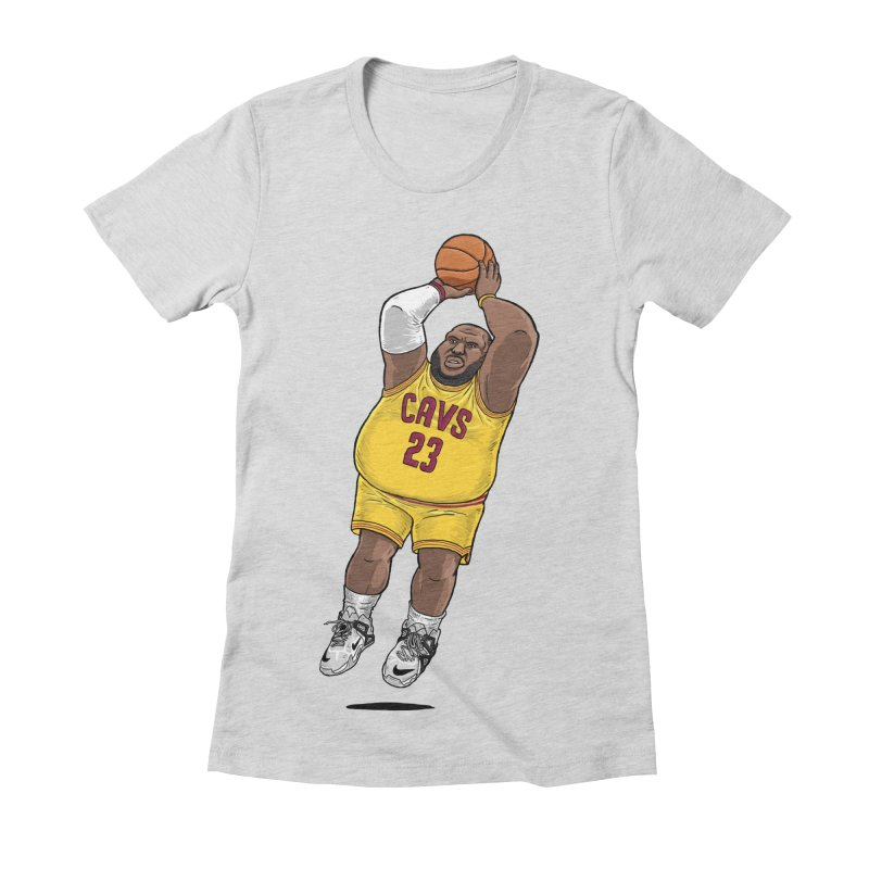 Fat LeBron - a.k.a. LeBrownie Women's Fitted T-Shirt by dukenny's Artist Shop