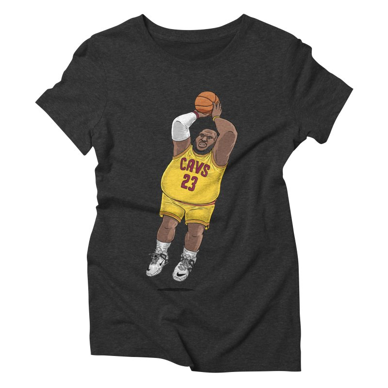 Fat LeBron - a.k.a. LeBrownie Women's Triblend T-Shirt by dukenny's Artist Shop
