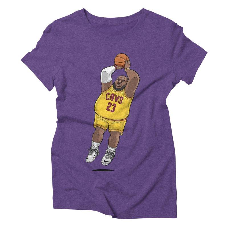 Fat LeBron - a.k.a. LeBrownie Women's Triblend T-Shirt by dukenny's Artist Shop