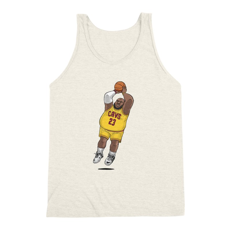 Fat LeBron - a.k.a. LeBrownie Men's Triblend Tank by dukenny's Artist Shop