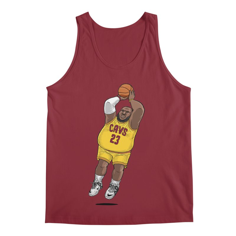 Fat LeBron - a.k.a. LeBrownie Men's Regular Tank by dukenny's Artist Shop