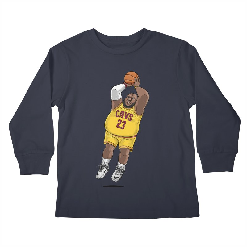 Fat LeBron - a.k.a. LeBrownie Kids Longsleeve T-Shirt by dukenny's Artist Shop