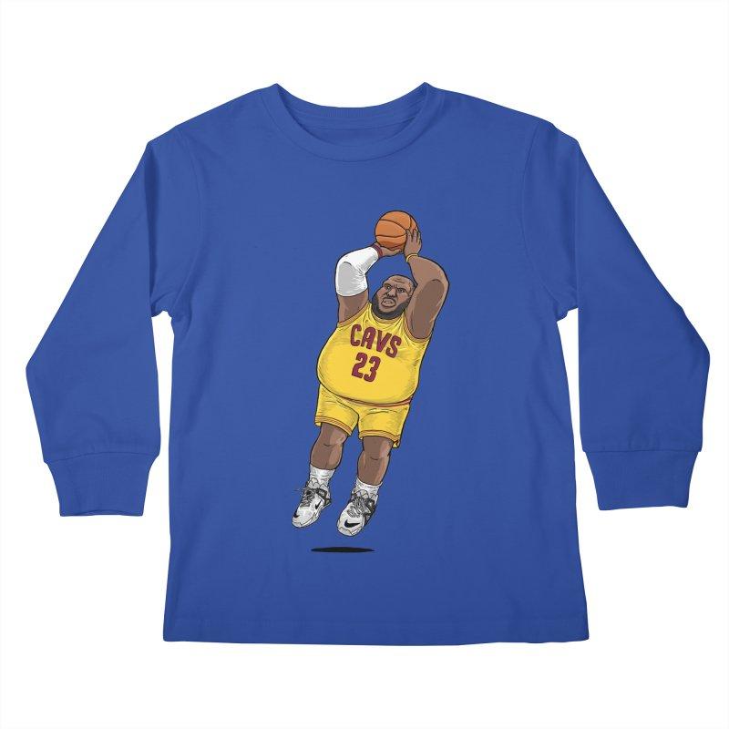 Fat LeBron - a.k.a. LeBrownie Kids Longsleeve T-Shirt by dukenny's Artist Shop