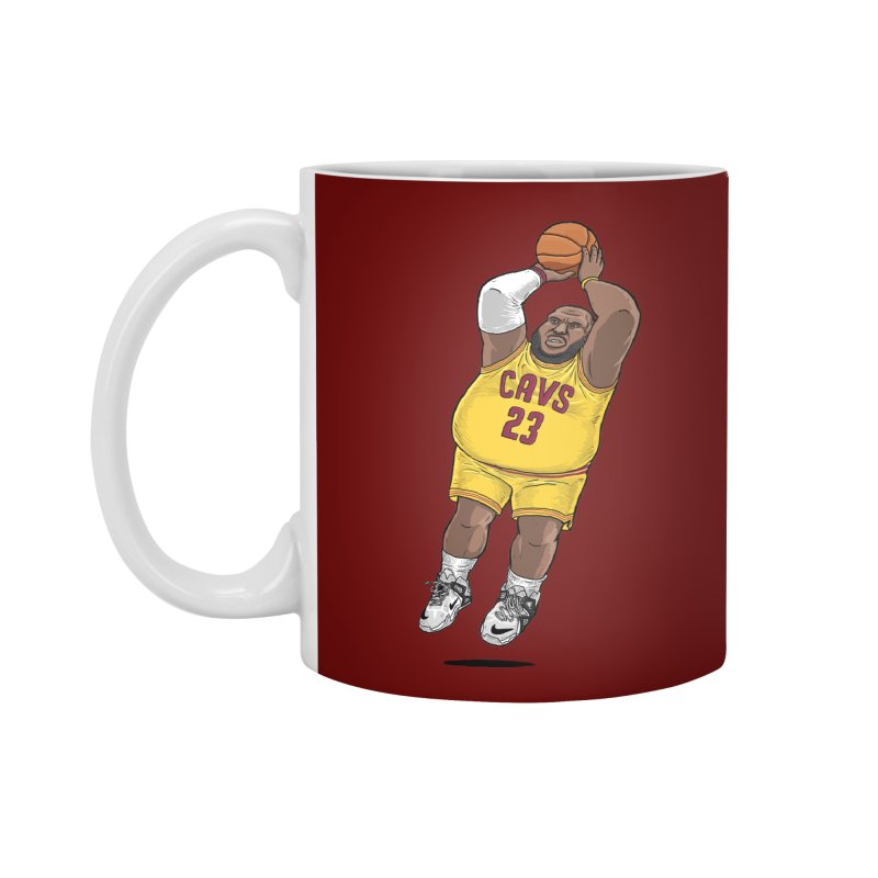 Fat LeBron - a.k.a. LeBrownie Accessories Mug by dukenny's Artist Shop