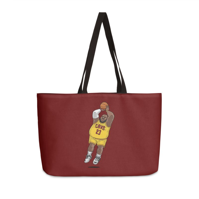 Fat LeBron - a.k.a. LeBrownie Accessories Weekender Bag Bag by dukenny's Artist Shop