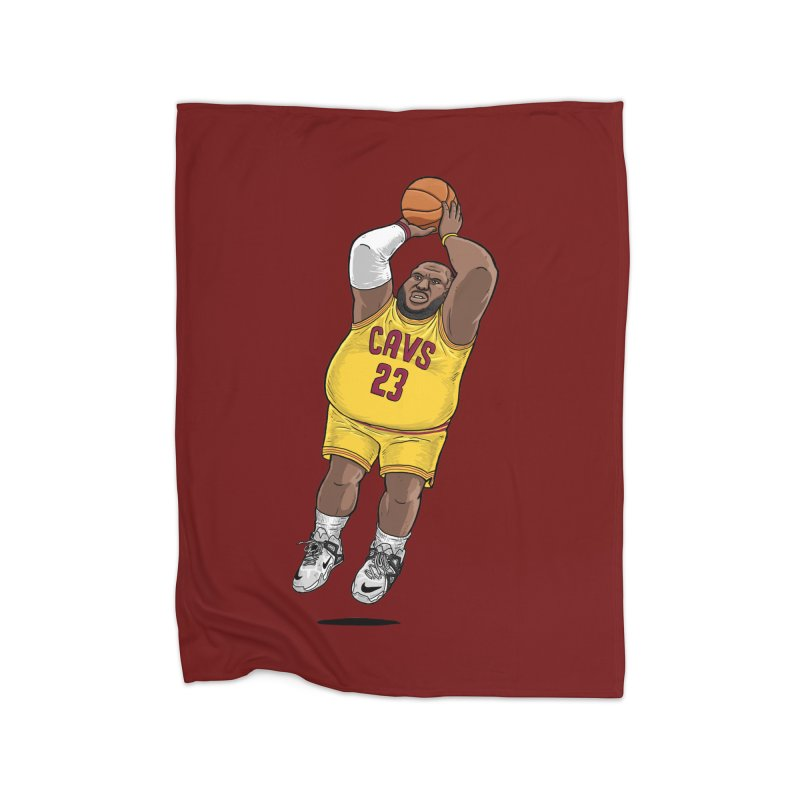 Fat LeBron - a.k.a. LeBrownie Home Fleece Blanket Blanket by dukenny's Artist Shop